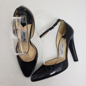 Jimmy Choo Black Mary Jane Patent Leather Heels